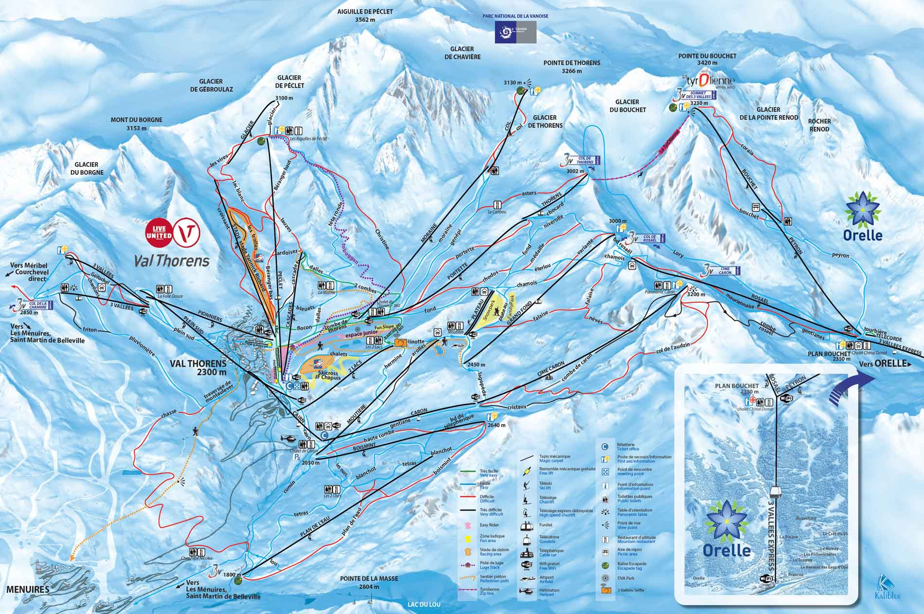 valthorens ski map